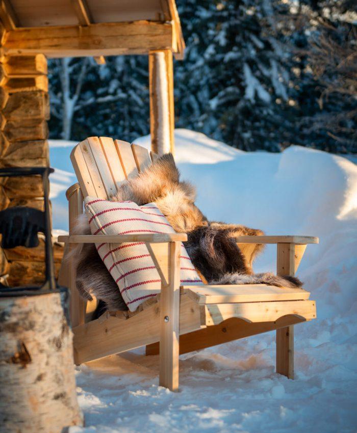 adirondack stol til hage i seder