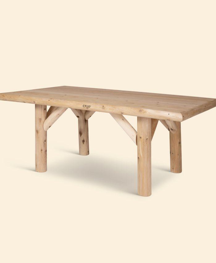 Log spisebord sedertre